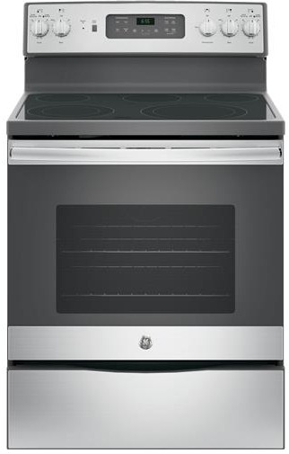 """JB655SKSS GE 30"""" Freestanding Electric Range with Convection & Fifth Element - Stainless Steel"""