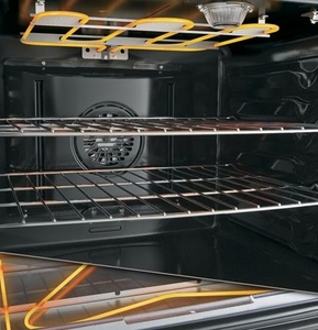 """JB700DJBB GE 30"""" Free-Standing Electric Convection Range with 12""""/9"""" Dual Element for Flexibility - Black"""