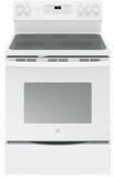 """JB700DJWW GE 30"""" Free-Standing Electric Convection Range with 12""""/9"""" Dual Element for Flexibility - White"""