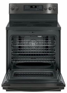 """JB750BJTS GE 30"""" Free-Standing Electric Convection Range with Precise Air and True European Convection - Black Stainless Steel"""