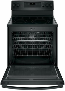 "JB750DJBB GE 30"" Free-Standing Electric Convection Range with Precise Air - Black"