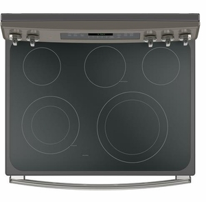 """JB750EJES GE 30"""" Free-Standing Electric Convection Range with Precise Air - Slate"""