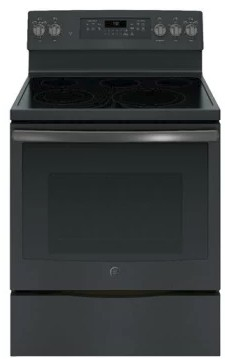 "JB750FJDS GE 30"" Free-Standing Electric Convection Range with Precise Air - Black Slate"