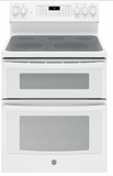 """JB860DJWW GE 30"""" Free-Standing Electric Double Oven Convection Range - White"""