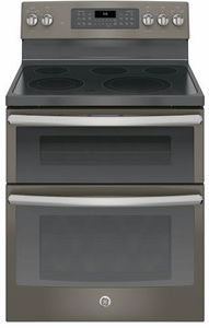 "JB860EJES GE 30"" Free-Standing Electric Double Oven Convection Range - Slate"