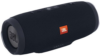 CHARGE3 JBL Black Wireless Portable Speaker with High Capacity Battery to Charge Devices