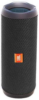 JBLFLIP4BLKAM JBL Full Featured Waterproof Portable Bluetooth Speaker with Bass Radiator and 12 Hours Playtime - Black