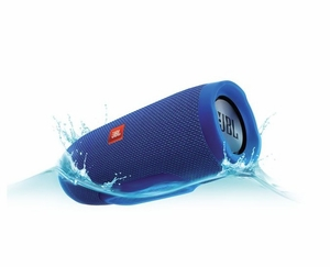JBLCHARGE3BLUEAM Portable Bluetooth Speaker with  JBL Connect and Speakerphone - Blue