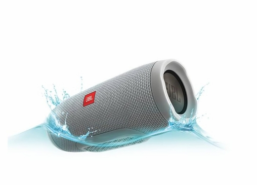 JBLCHARGE3GRAYAM Portable Bluetooth Speaker with  JBL Connect and Speakerphone - Gray