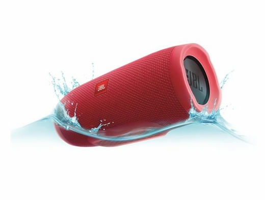 JBLCHARGE3REDAM Portable Bluetooth Speaker with  JBL Connect and Speakerphone - Red
