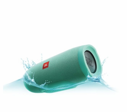 JBLCHARGE3TEALAM Portable Bluetooth Speaker with  JBL Connect and Speakerphone - Teal