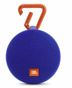 JBLCLIP2BLUAM  JBL Wireless Speaker with Mic For Speakerphone Calls and Built-In Rechargeable Battery - Blue
