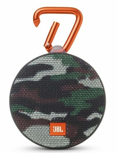 JBLCLIP2SQUAD  JBL Wireless Speaker with Mic For Speakerphone Calls and Built-In Rechargeable Battery - Squad (Camo)