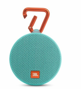 JBLCLIP2TELAM  JBL Wireless Speaker with Mic For Speakerphone Calls and Built-In Rechargeable Battery - Teal