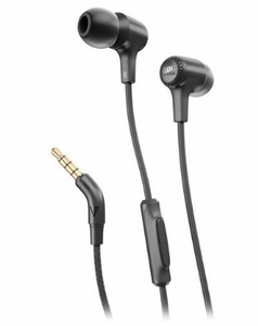 E15BLK JBL In-Ear Bud Headphone with Call Control Microphone and Carry Case - Black