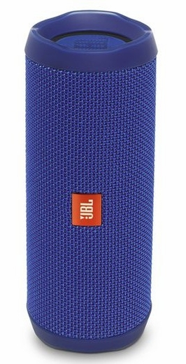 JBLFLIP4BLUAM JBL Full Featured Waterproof Portable Bluetooth Speaker with Bass Radiator and 12 Hours Playtime - Blue