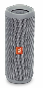 JBLFLIP4GRYAM JBL Full Featured Waterproof Portable Bluetooth Speaker with Bass Radiator and 12 Hours Playtime - Gray