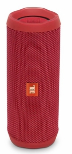 JBLFLIP4REDAM JBL Full Featured Waterproof Portable Bluetooth Speaker with Bass Radiator and 12 Hours Playtime - Red