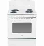 """JBS45DFWW GE 30"""" Free Standing Electric Range with 5.0 Cu. Ft. Oven Capacity - White"""