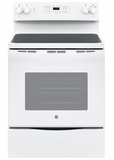 """JBS60DKWW GE 30"""" Free-Standing Electric Range with 5.3 cu. ft. Capacity and Dual-Element Bake - White"""