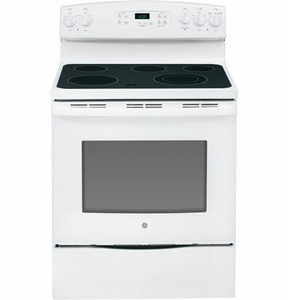 "JBS65DFWW GE 30"" Free-Standing Electric Range - White"