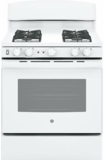 "JGB450DEKWW GE 30"" Gas Range with 4 Sealed Burners 5.0 cu. ft. Oven and Precise Simmer Burner - White"