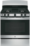 """JGB450REKSS GE 30"""" Gas Range with 4 Sealed Burners 5.0 cu. ft. Oven and Precise Simmer Burner - Stainless Steel"""