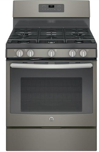 "JGB660EEJES GE 30"" Free-Standing Gas Range with Edge-to-edge Cooktop - Slate"