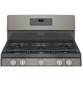 """JGB660EEJES GE 30"""" Free-Standing Gas Range with Edge-to-edge Cooktop - Slate"""
