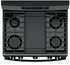 "JGB700DEJBB GE 30"" Free-Standing Gas Convection Range with Edge-to-edge Cooktop - Black"