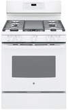 "JGB700DEJWW GE 30"" Free-Standing Gas Convection Range with Edge-to-edge Cooktop - White"