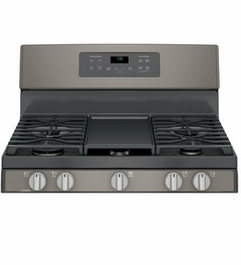 "JGB700EEJES GE 30"" Free-Standing Gas Convection Range with Edge-to-edge Cooktop - Slate"