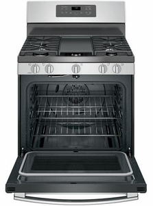 "JGB700SEJSS GE 30"" Free-Standing Gas Convection Range with Edge-to-edge Cooktop - Stainless Steel"