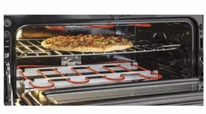 "JGB860BEJTS GE 30"" Free-Standing Gas Double Oven Convection Range with Edge-to-edge Cooktop - Black Stainless Steel"