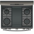 "JGB860EEJES GE 30"" Free-Standing Gas Double Oven Convection Range with Edge-to-edge Cooktop - Slate"