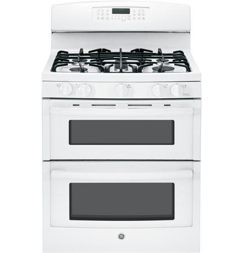 """JGB870DEFWW GE 30"""" Free-Standing Gas Double Oven Range with Convection - White"""