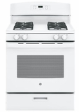 "JGBS60DEKWW GE 30"" Free-Standing Range with 4.8 cu. ft Capacity and Sealed Cooktop Burners - White"