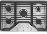 """JGP5030SLSS GE 30"""" Built-In Gas Cooktop with Sealed Cooktop Burners and Heavy-Cast Edge-to-Edge Grates - Stainless Steel"""