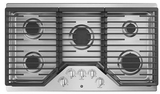 """JGP5036SLSS GE 36"""" Built-In Gas Cooktop with Sealed Cooktop Burners and Heavy-Duty Dishwasher Safe Grates - Stainless Steel"""
