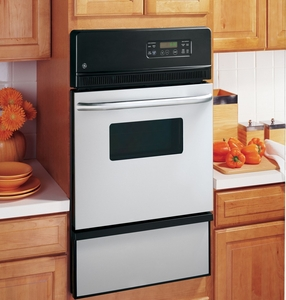 """JGRP20SENSS GE 24"""" Built-in Single Gas Wall Oven - Stainless Steel"""