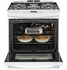 "JGS650DEFWW GE 30"" Slide-In Gas Range - White"