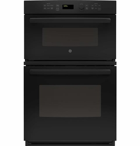 "JK3800DHBB GE 27"" Built-In Combination Microwave/Thermal Wall Oven with Upper Sensor Controls - Black"