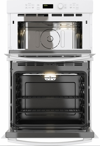 """JK3800DHWW GE 27"""" Built-In Combination Microwave/Thermal Wall Oven with Upper Sensor Controls - White"""