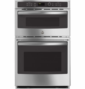 "JK3800SHSS GE 27"" Built-In Combination Microwave/Thermal Wall Oven with Upper Sensor Controls - Stainless Steel"