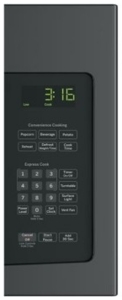 """JNM3163DJBB GE 30"""" 1.6 cu. ft. Over-the-Range Microwave Oven with 1,000 Watts and Two-Speed 300-CFM Venting System - Black"""