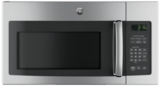 "JNM3163RJSS GE 30"" 1.6 cu. ft. Over-the-Range Microwave Oven with 1,000 Watts and Two-Speed 300-CFM Venting System - Stainless Steel"