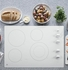 """JP3530TJWW GE 30"""" Built-In Knob Control Electric Cooktop with 4 Cooking Elements - White"""