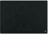 """JP5030DJBB GE 30"""" Built-In Touch Control Electric Cooktop with Digital Touch Controls - Black"""