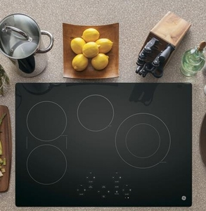 "JP5030DJBB GE 30"" Built-In Touch Control Electric Cooktop with Digital Touch Controls - Black"