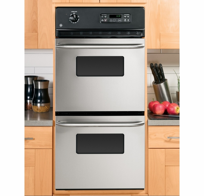 Jrp28skss Ge 24 Built In Double Wall Oven Stainless Steel